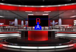 wirtualne studio green screen, wirtualna scenografia